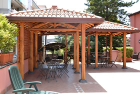 Gazebo in the terrace